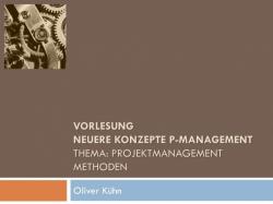 Projektmanagement Methodiken
