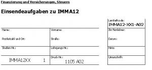 Einsendeaufgaben zu IMMA12
