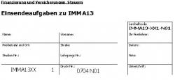 Einsendeaufgaben zu IMMA13