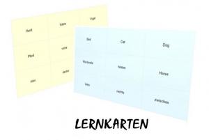 Lernkarten Englisch Grundschule