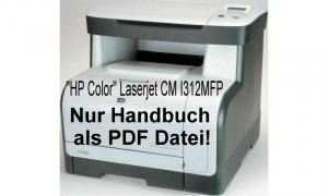 """HP Color"" Laserjet CM I312MFP Anleitung PDF von HP"