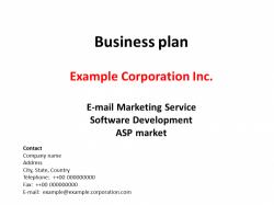 Businessplan Email Marketing und Software