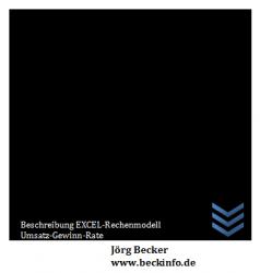 Beschreibung EXCEL-Rechenmodell Umsatz-Gewinn-Rate