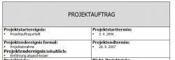Projektmanagement-Vorlage - Projektauftrag