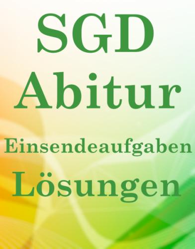 SGD Abitur Lösungsaufgaben CHI01 XX1