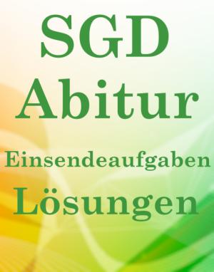 SGD Abitur Lösungsaufgaben LAG01 XX1