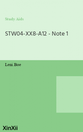STW04-XX8-A12 - Note 1
