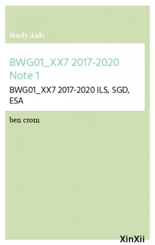 BWG01_XX7  2017-2020  Note 1