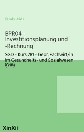 BPR04 - Investitionsplanung und -Rechnung