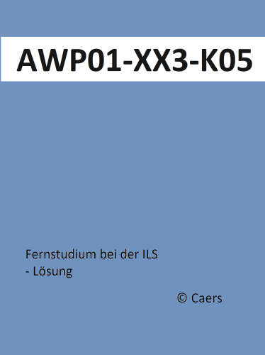 AWP 01 / Gepr. Fachwirt Marketing (IHK) / ILS / Lernmethodik