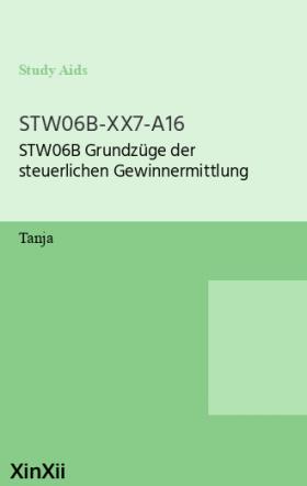 STW06B-XX7-A16