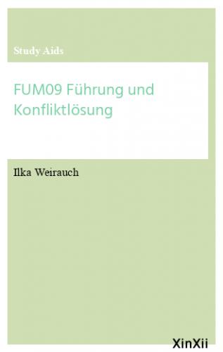 FUM09 Führung und Konfliktlösung