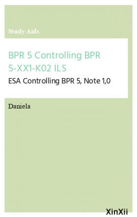 BPR 5 Controlling BPR 5-XX1-K02 ILS