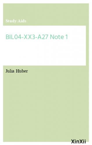 BIL04-XX3-A27 Note 1