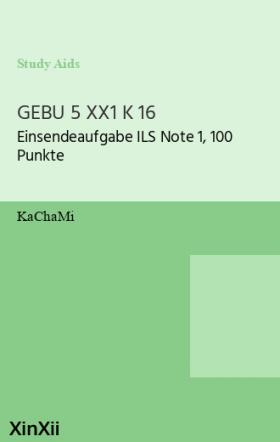 GEBU 5 XX1 K 16