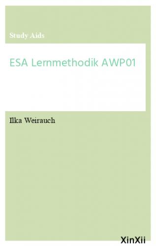 ESA Lernmethodik AWP01