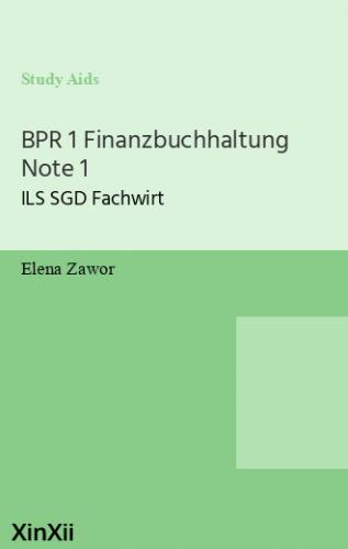 BPR 1 Finanzbuchhaltung Note 1