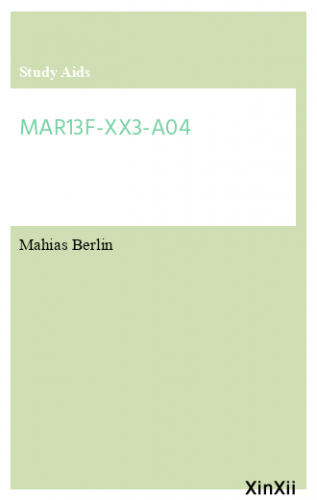 MAR13F-XX3-A04