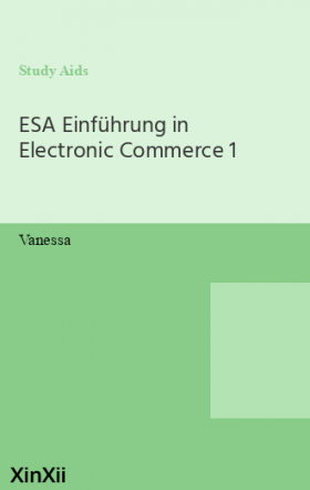 ESA Einführung in Electronic Commerce 1