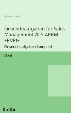 Einsendeaufgaben für Sales Management /ILS ARBM - ERVE1F