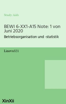 BEWI 6-XX1-A15 Note: 1 von Juni 2020