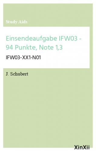 Einsendeaufgabe IFW03 - 94 Punkte, Note 1,3