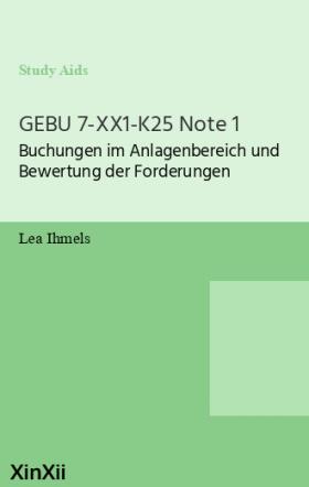 GEBU 7-XX1-K25 Note 1