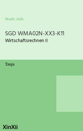 SGD WMA02N-XX3-K11