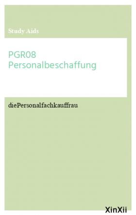 PGR08 Personalbeschaffung