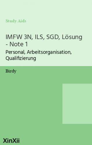 IMFW 3N, ILS, SGD, Lösung - Note 1