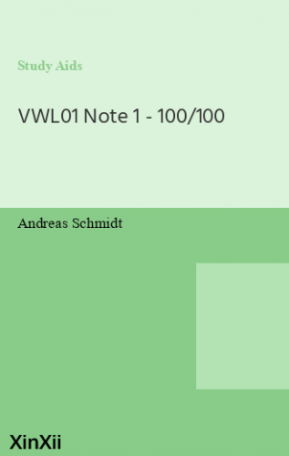 VWL01 Note 1 - 100/100