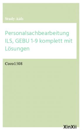 Personalsachbearbeitung ILS, GEBU 1-9 komplett mit Lösungen