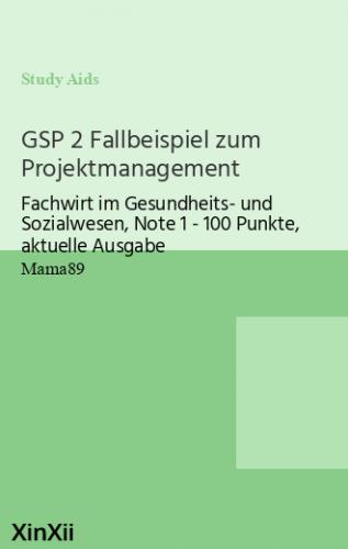 GSP 2 Fallbeispiel zum Projektmanagement