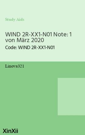 WIND 2R-XX1-N01 Note: 1 von März 2020