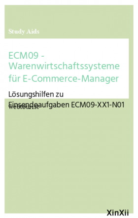 ECM09 - Warenwirtschaftssysteme für E-Commerce-Manager
