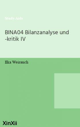 BINA04 Bilanzanalyse und -kritik IV