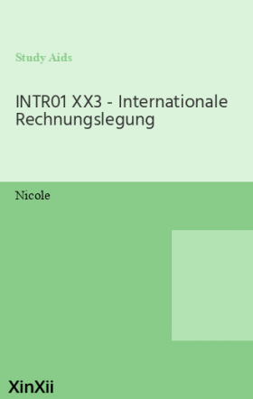 INTR01 XX3 - Internationale Rechnungslegung