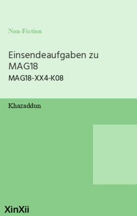 Einsendeaufgaben zu MAG18