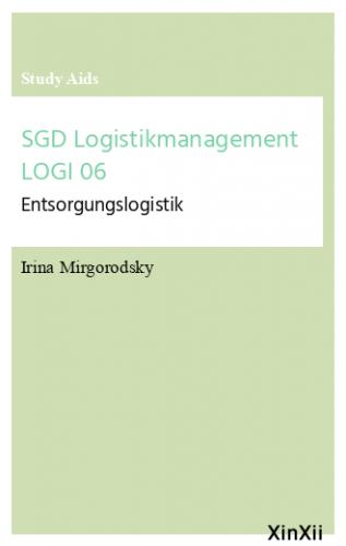 SGD Logistikmanagement LOGI 06