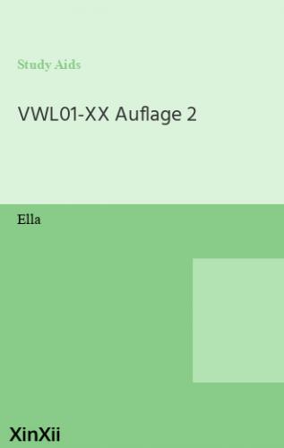 VWL01-XX Auflage 2