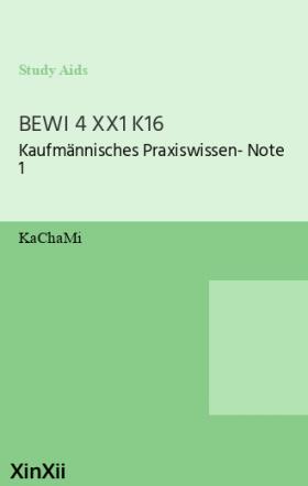 BEWI 4 XX1 K16