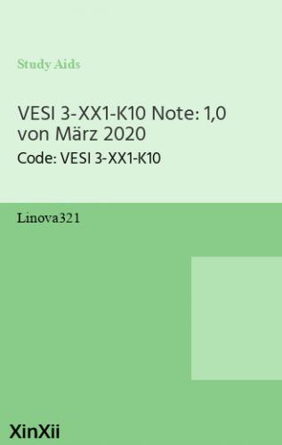 VESI 3-XX1-K10 Note: 1,0 von März 2020