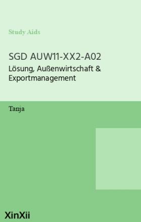 SGD AUW11-XX2-A02