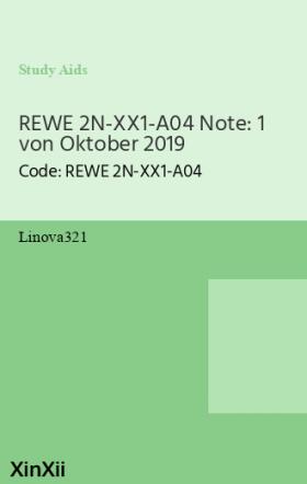 REWE 2N-XX1-A04 Note: 1 von Oktober 2019