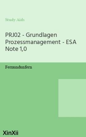 PRJ02 - Grundlagen Prozessmanagement - ESA Note 1,0