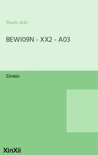 BEWI09N - XX2 - A03