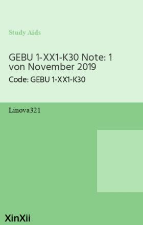 GEBU 1-XX1-K30 Note: 1 von November 2019