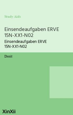 Einsendeaufgaben ERVE 15N-XX1-N02