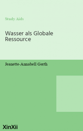 Wasser als Globale Ressource