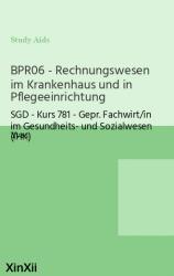 BPR06 - Rechnungswesen im Krankenhaus und in Pflegeeinrichtung